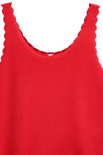 Vest top with scalloped edges - Red - Ladies | H&M 3